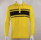 春夏款高爾夫寬鬆男裝 服裝定制 吸汗透氣長袖翻領男式T恤polo衫