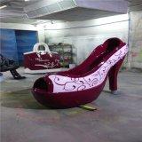 玻璃钢鞋_卡通玻璃钢女鞋摆件_仿真创意玻璃钢高跟鞋雕塑小品