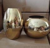 定做 多边形不锈钢钛金盆景花盆 不锈钢镜面花瓶 耐氧化 耐腐蚀