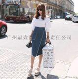 日韩夏季新款 甜美露肩一字领 纯色中袖/五分袖中长款衬衫上衣