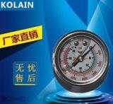 江苏克莱恩40/60MPA联创耐震高压气筒专用压力表 外径40耐震