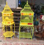 欧式铁艺鸟笼铁艺金属花架 鸟笼加粗型鹦鹉鸟笼 大号鸟笼 置物架鸟笼