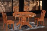 实木橡木餐桌 圆桌 豪华高档桌子