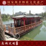 楚歌上海出售定制豪华画舫木船观光旅游船