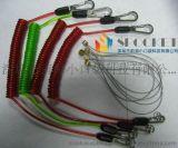 定制中国内销TPU环保材质高弹力内包钢丝牢固耐拉棘轮扳手失手绳 工具挂绳 防坠绳