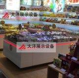 大沣DF-023精品超市货架展柜进口食品进口商品铁木结合货架尺寸层高可定制