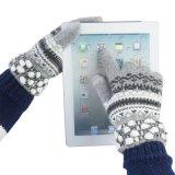 羊绒触屏手套保暖韩版时尚菠萝口电容触控冬季手套 女