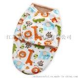 柔飛嬰兒襁褓短毛絨雙層包被防踢睡袋