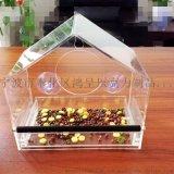 亚克力窗口喂鸟器  压克力鸟食盒 种类齐全 货号HC012 宁波鸿呈
