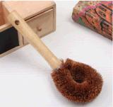 廠家直銷超強去污木柄可拆換天然椰棕刷 家居洗刷清潔必備品