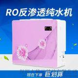 3D反渗透RO膜直饮50G/75G/100G3D动感粉色纯水机苹果机生产厂家