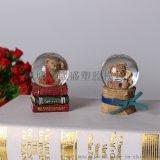 香港树脂工艺品 泰迪熊树脂玻璃水球 泰迪熊水球 广告礼品 速卖通分销