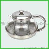 不鏽鋼太極壺玻璃衝茶壺透明過濾泡茶壺玻璃水壺衝茶器耐高溫