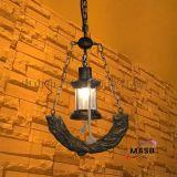 供应玛斯欧美式复古自然乡村树脂吊灯MS-P9001 马灯单头铁链可调节 适用餐厅吧台灯餐饮复古风格装修