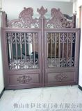 铝艺别墅庭院双开门-雕刻门