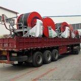农用大型卷盘式喷灌机 180米长小麦自动浇地设备 PE管自动灌溉机