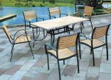户外铝木餐桌椅(AC-A6037/AC-B6037)