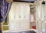 湖南长沙欧式百叶推拉门整体定制衣柜卧室定做实木走入式大衣柜(厂家直销)
