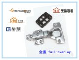 揭阳五金 直臂带塑料垫 四孔固定脚 橱柜/家具专用 缓冲液压铰链