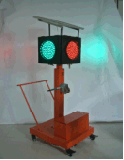 太阳能移动施工信号灯