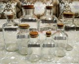 玻璃白广口瓶密封罐茶叶瓶罐药瓶棕茶色磨砂试剂瓶调料瓶储物瓶