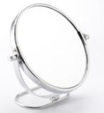 厂家供应 勤好圆形金属镜框台镜 电镀铬促销礼品展柜专配LOGO