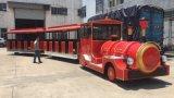 新款燃油小火车景区观光小火车游乐设备无轨观光小火车燃油车