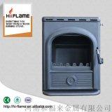 HiflameAL357i-B铸铁带水胆木材燃烧的插入式壁炉