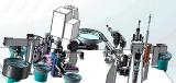 供应箱包胶轮万向轮组装铆接一体机