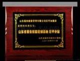供应香港铝沙金奖牌订做,苹果授权经销商牌,木制雕刻牌