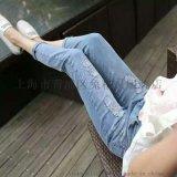 秋冬新款牛仔裤,韩版时尚牛仔裤,九分,小脚裤,直筒