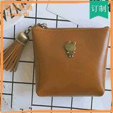 韩国新品可爱动物流苏零钱包PU皮复古拉链硬币包学生小钱包女