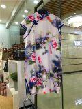 上海女装折扣店批发马如龙旗袍剪标女装