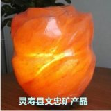 雕刻型玫瑰盐灯天然水晶盐灯时尚床头盐灯纯手工打造现货供应
