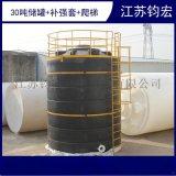 30吨耐酸碱储罐   无锡30立方pe储罐