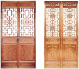 西安仿古家具,全屋实木家具定制,整木定制,新中式家具,纯榫卯结构家具,实木双折扇屏风门