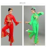秧歌服2017新款現代舞蹈服裝演出服中老年扇子舞廣場舞套裝,女成人