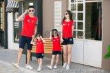 幼儿园亲子家庭装小学生儿童班服 纯棉短袖T恤厂家批发