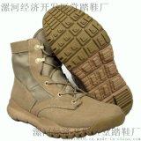 反绒牛皮沙漠靴FBI战术鞋