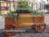 户外实木花箱,景观园林花箱,广州公园花箱