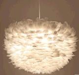 批發白色羽毛吊燈溫馨鳥巢創意公主婚房婚慶道具燈具後現代LED燈