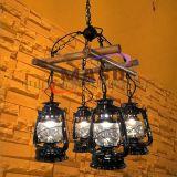 玛斯欧自主开发竹排煤油四头美式复古乡村艺术自然餐厅酒吧吊灯MS-P9004 竹排吊灯