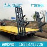 工业用尾板牵引平板拖车 最新平板拖车