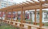 湖北省襄阳市园林水泥仿木纹长廊