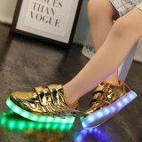 工厂直销LED灯鞋男女板鞋USB充电七彩发光鞋夜光鞋荧光鞋情侣款运动鞋