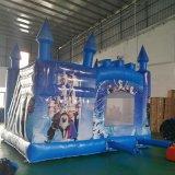 厂家直销新款冰雪奇缘城堡充气蹦床滑梯儿童乐园游艺设施运动户外