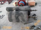TD75皮带机机头传动包胶菱形花纹铸胶滚筒