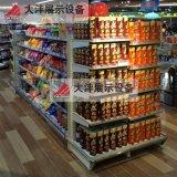 大沣DF-022精品超市货架展柜进口食品进口商品铁木结合货架尺寸层高可定制