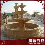 优质石雕水钵埃及米黄水钵常见喷泉雕刻