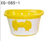 童车彩色塑料筐 蝴蝶结通用车筐 XG-085-1